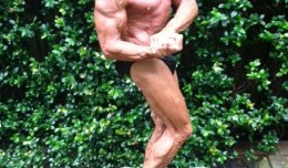 Steve Langham,70, shows the form that helped him when the over 60 and over 70 Mens Bodybuilding divisions at the  2012 Branch Warren Classic Saturday.