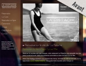 refonte-creation-site-internet-restaurant-saint-cyr-sur-mer-agence - avant