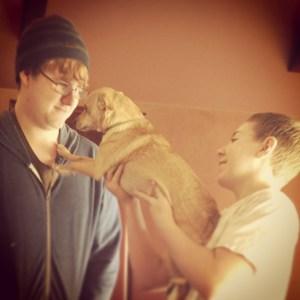 Boys love dogs
