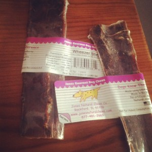 Wheezer Stick beef esophagus from Jones Natural Chews