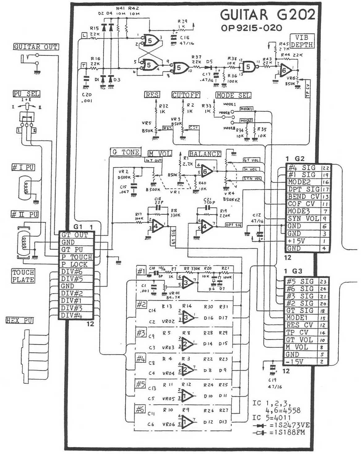 Roland G 707 Vintage Roland Guitar Synthesizer Controller Gr 700 Hex Fuzz Polydistortion