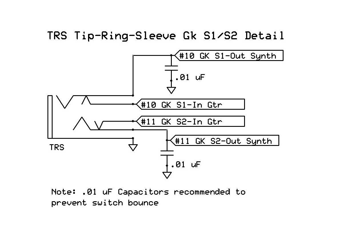 trs jack wiring diagram rv fuse panel gk quadboard roland gkp 4 clone with user exapndability