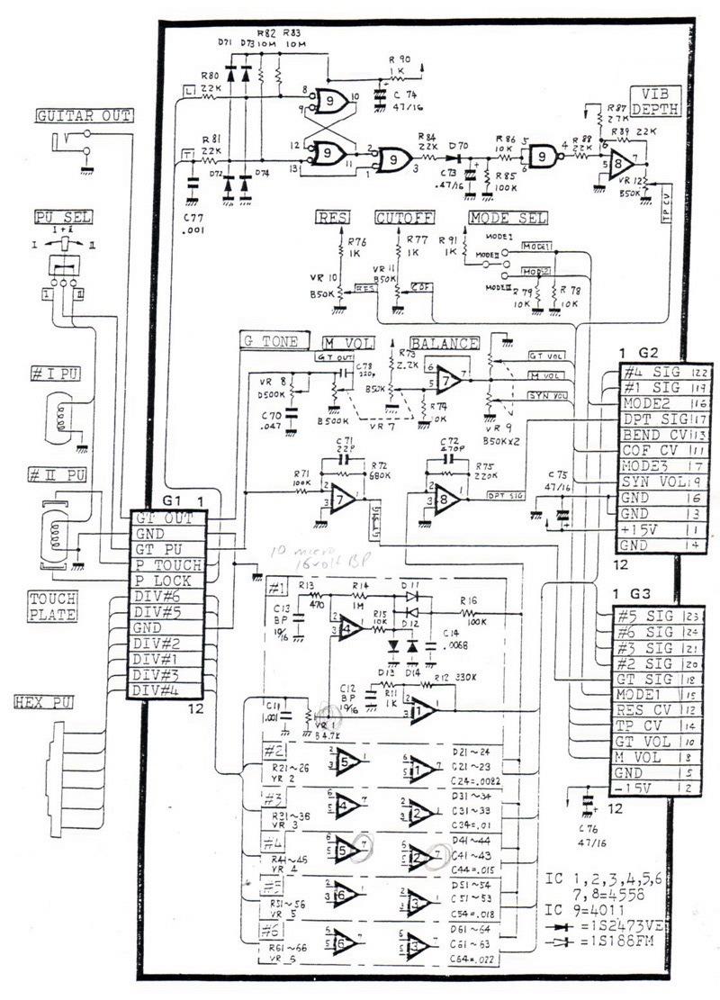 Roland LPK-1 GR Guitar Controller Assembly