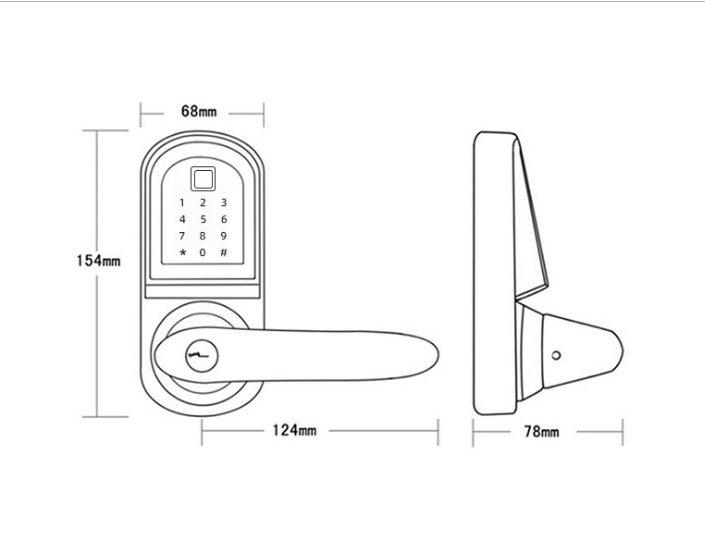 Bluetooth Lock JYF-S201BL-F--Smart Lock Joneytech