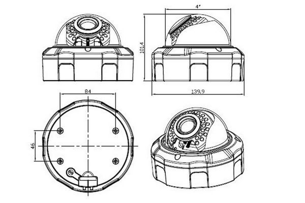 Manual Vari-focal Lens IP Camera JYD-V3227IPC--Joney CCTV