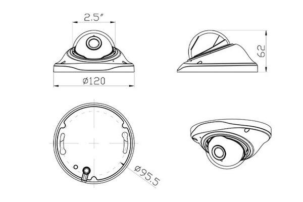 Mini 180 degree fisheye IP camera IPC-180HD8600IR--Joney