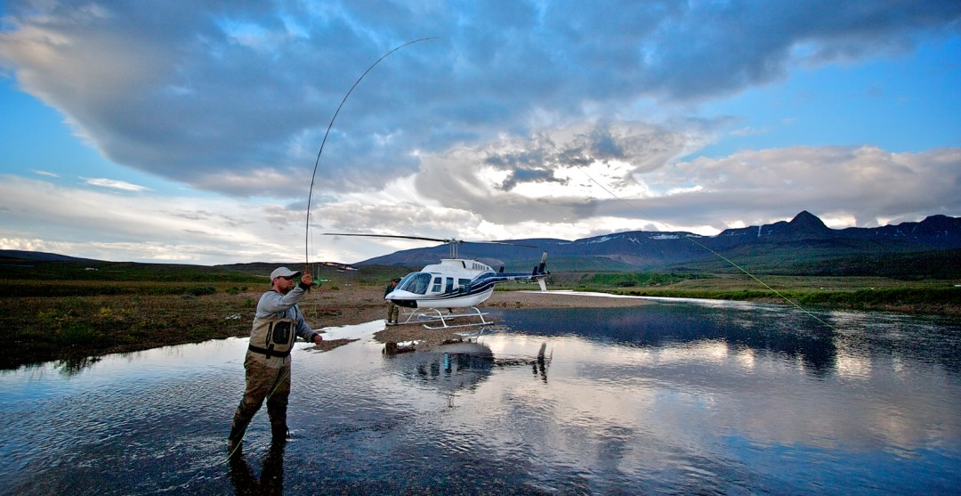Helicopter Fishing Trip in Iceland. Reykjavik Helicopters Iceland - photo by Jon Gustafsson.