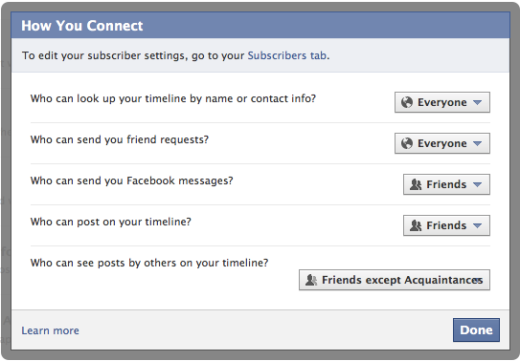 Facebook Privacy How You Connect