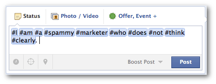 facebook hashtags overuse Facebook Hashtags for Brands: What You Need to Know