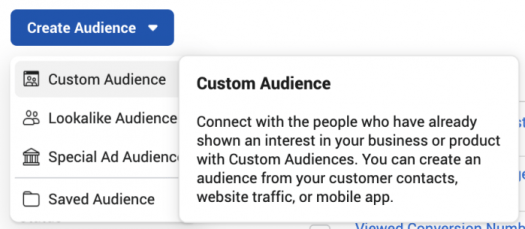 Create Facebook Custom Audience