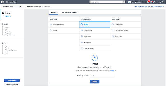 Facebook Power Editor Guided Creation