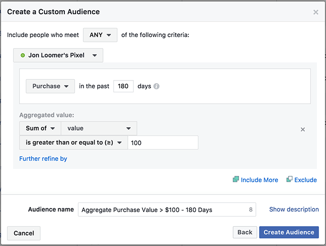 Website Custom Audiences Events