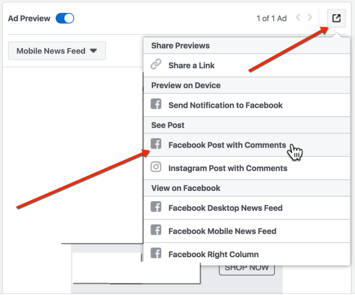 Facebook Ad Preview - View Facebook Post URL and Post ID