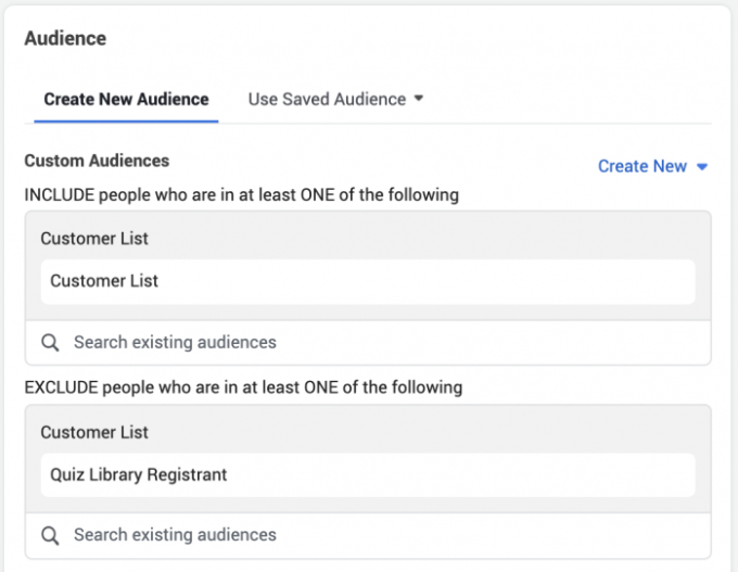 Facebook Custom Audience Data Email