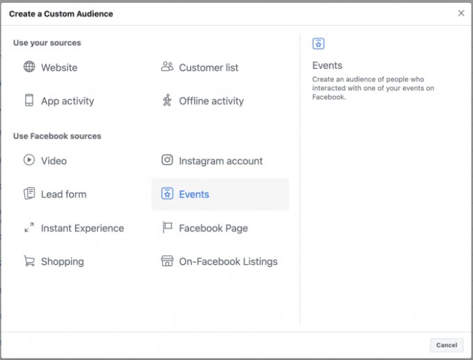 Facebook Event Custom Audience