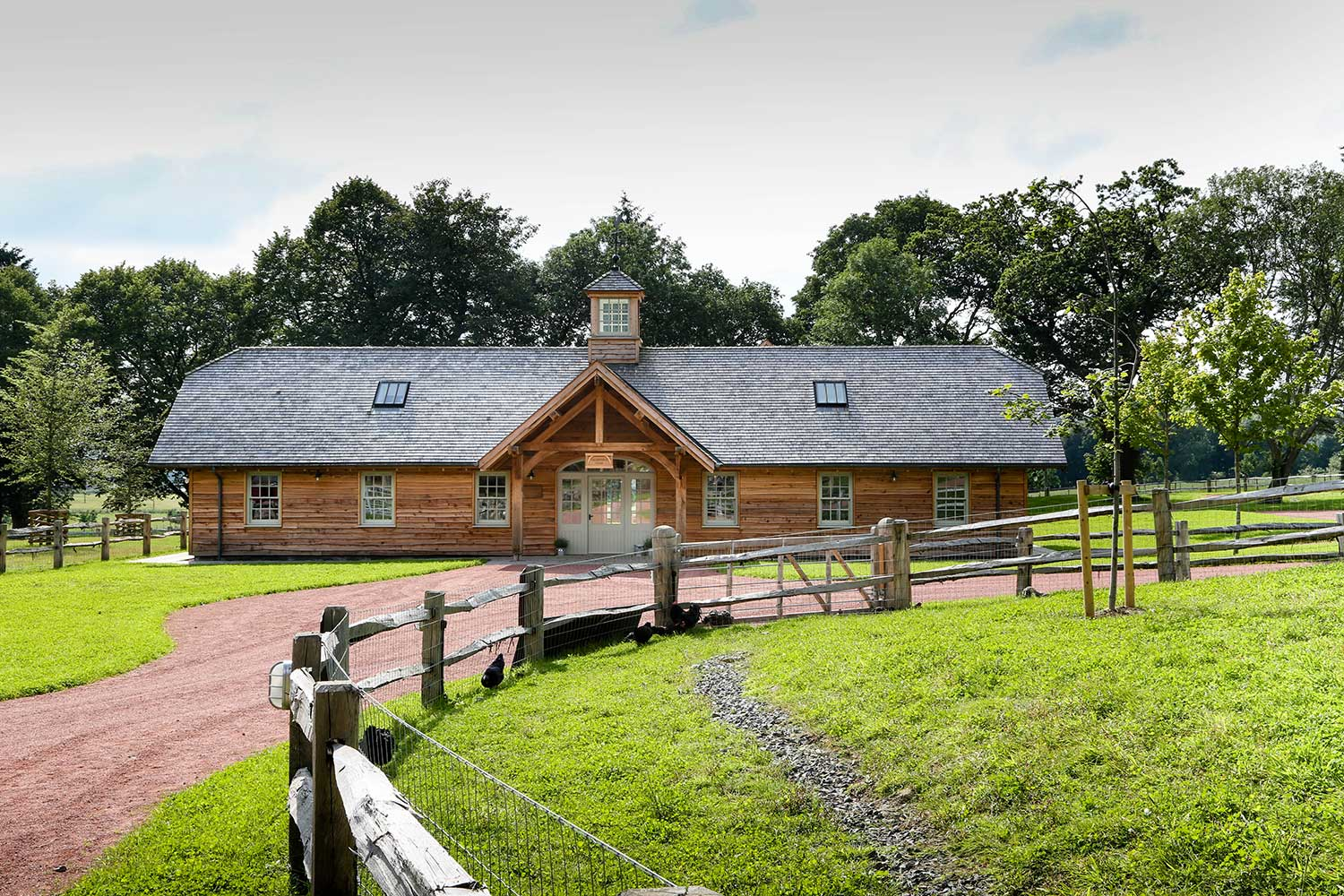 timber frame Farm Education Centre