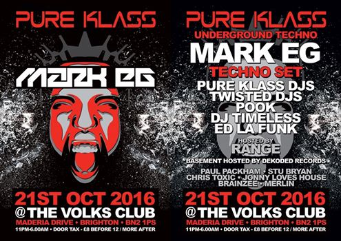 PURE KLASS @ THE VOLKS, BRIGHTON