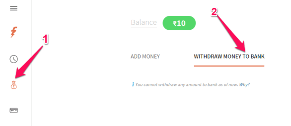 Transfer Freecharge Credits
