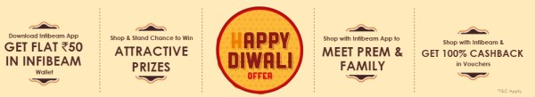 Infibeam Diwali Offer, Infibeam App Offer