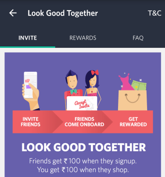 Myntra App Refer - Myntra Refer & Earn : Rs.100 as Bonus & Rs.100 per referal