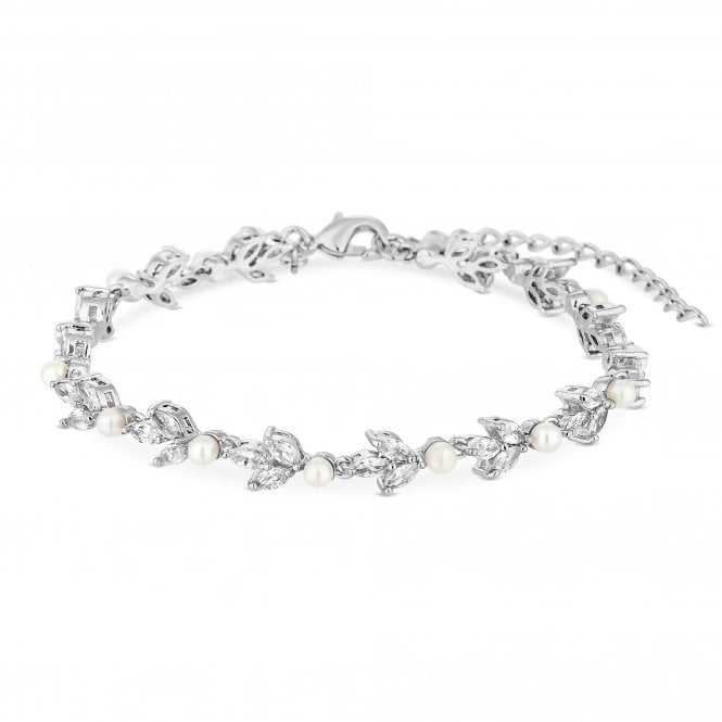 Alan Hannah Devoted Silver Plated Clear Pearl Victoria