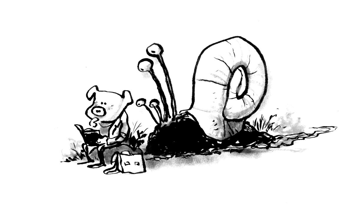 Inktober snegl skræntskov