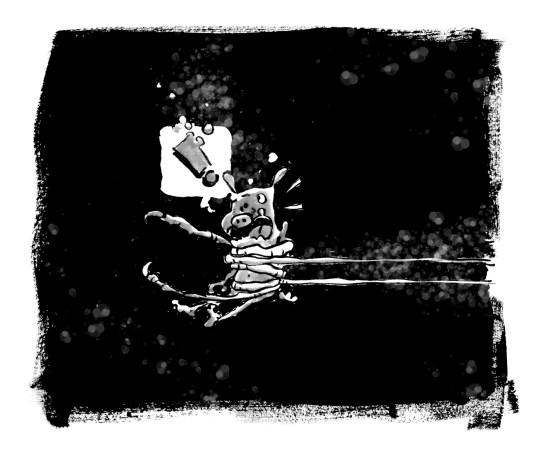 Fanget inktober monster horror inktoberstory improcomic
