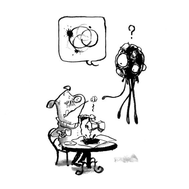 kaffe coffee stains kaffepletter alien rumvæsen uventede gæster
