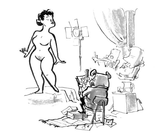 croquis tegning model nøgen nude