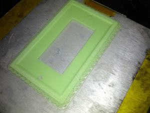 3D Printed ABS Glow in the Dark Wall Plate