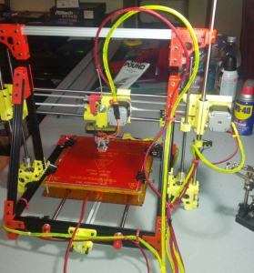 Completed 3D Printer - OB 1.4 OpenBeam Black with PLA and ABS