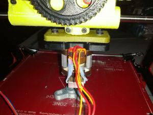 OB 1.4 3D Printer with PLA Budaschnozzle Adapter Plate Printing ABS Adapter
