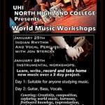Indian Rhythm & Vocal Percussion workshop at UHI, Scotland