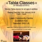 Tabla classes in Swindon Flyer