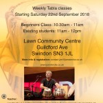 Tabla classes in swindon September 2018