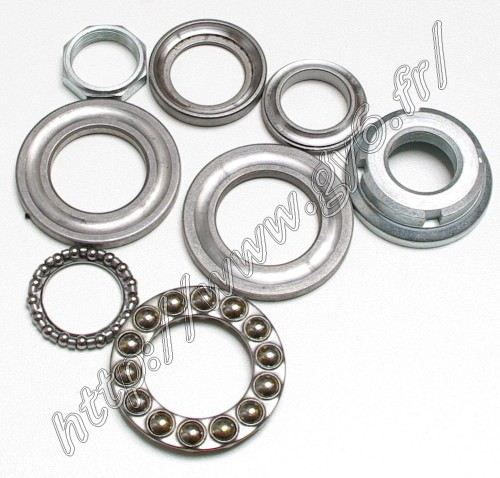 complete steering stem bearing and nut/fixation, for
