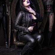 Model in black leather by Junker Designs