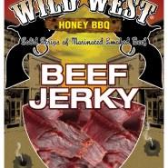 Wild West honey BBQ Beef Jerky package design