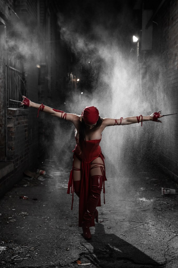 Elektra cosplay photography