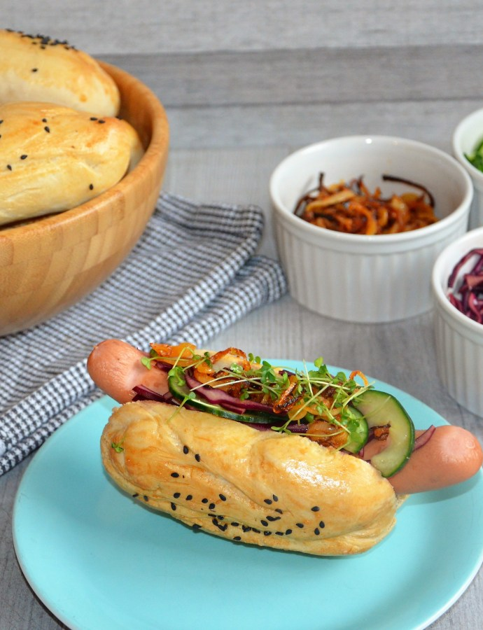 Selbstgemachte Hot Dogs