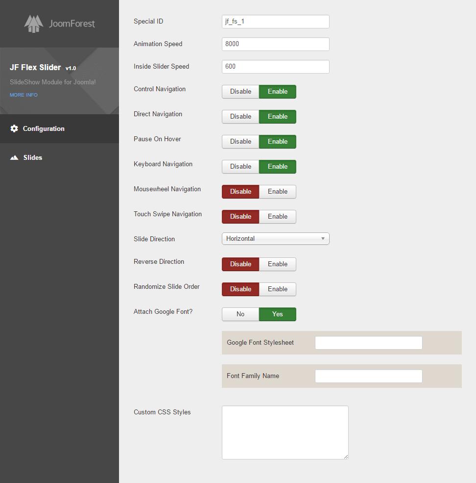 JF Flex Slider - Image Slider Module for Joomla 《JoomForest》