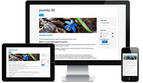 The Responsive Joomla 3.0 Front-end