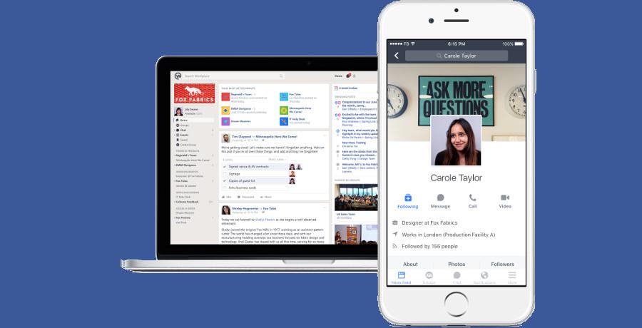 Facebook Workplace: il social network diventa strumento di lavoro