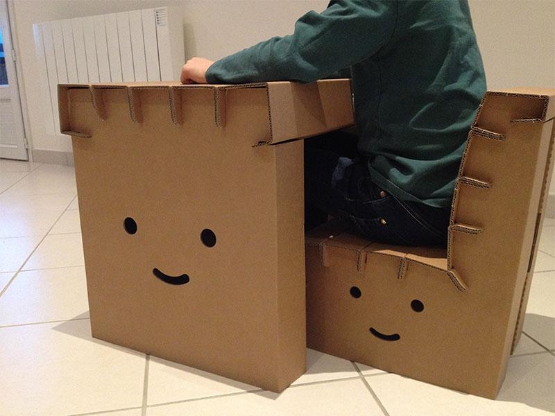 Bureau et chaise en carton funny paper jooniz