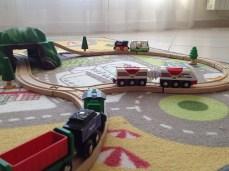Vous pouvez faire circuler plusieurs trains en même temps.