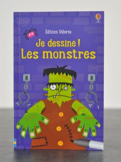 """Le cahier d'activités """"Je dessine les monstres"""" des éditions Usborne"""