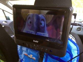 lecteur dvd avec un grand écran