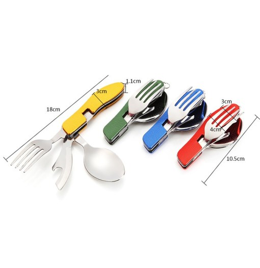 VILEAD-Portable-Folding-Knife-Fork-Spoon-Combined-Camping-Set-Multifunctional-Stainless-Steel-Outdoor-Tableware-for-Picnic (4)
