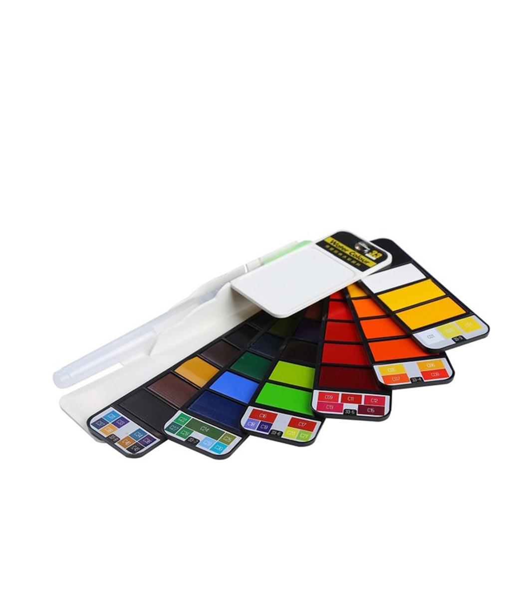 portable painting color kit professional watercolor paint set