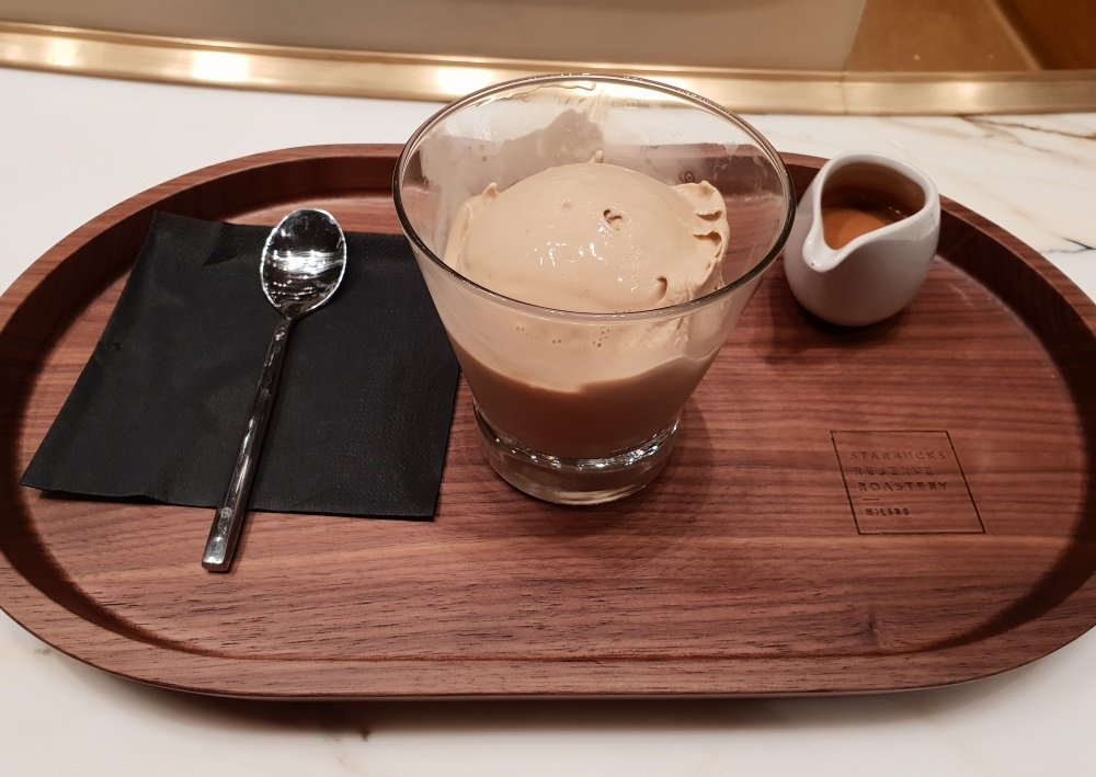 Nitro gelato affogato Starbucks